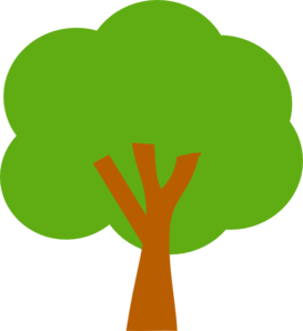 Green clipart. Tree clip art at