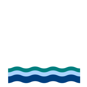 Blue green waves clip. A clipart wave