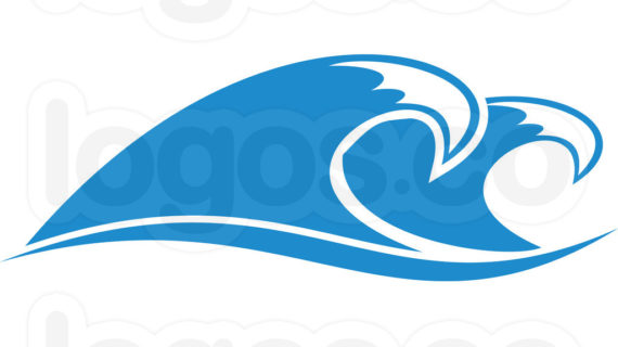 A clipart wave. Ocean line drawing of