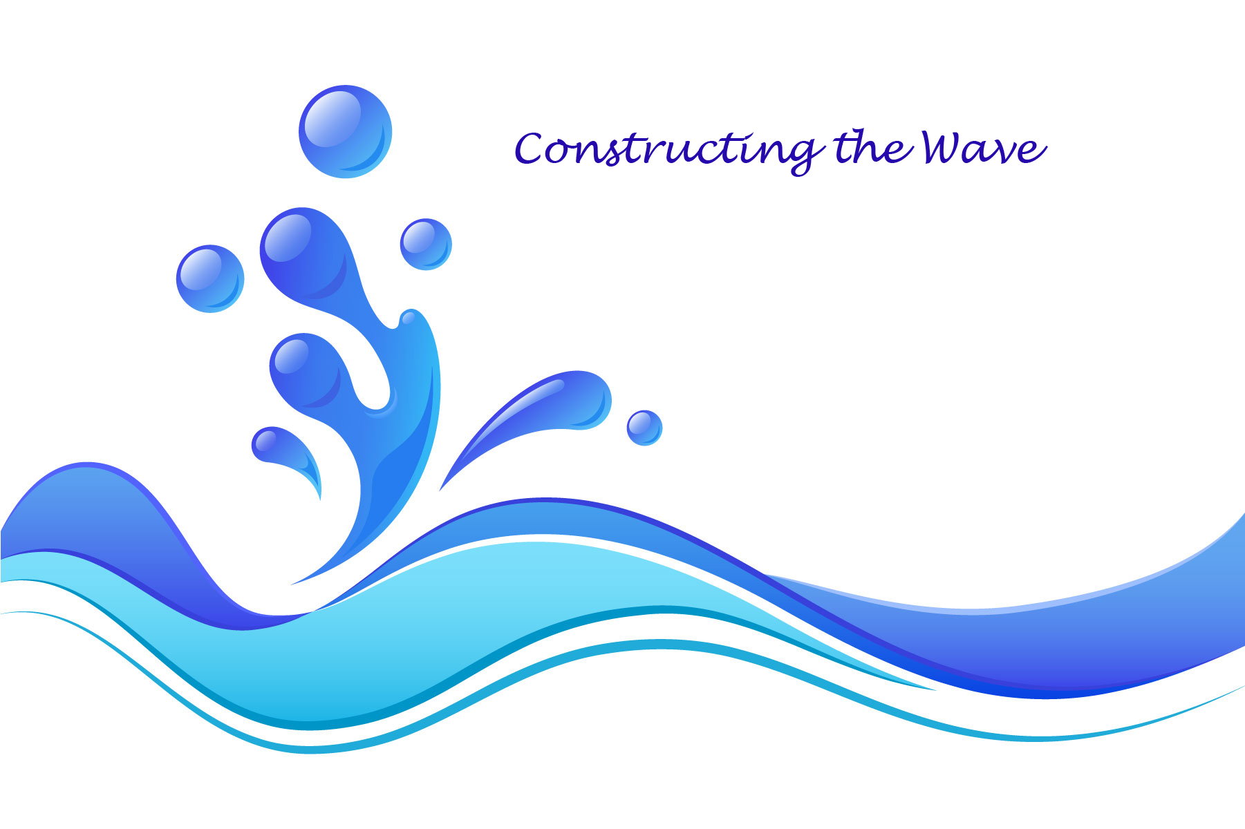 A clipart wave. Watch the construction of