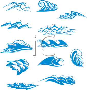 Waves clipart wave design. Iclipart royalty free image