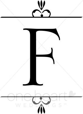 A clipart wedding. Monogram f monograms