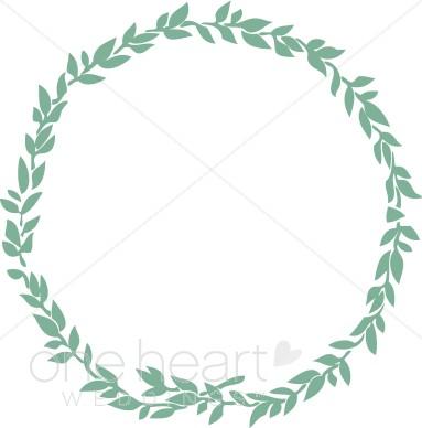 Jewish leaf. Clipart wedding wreath