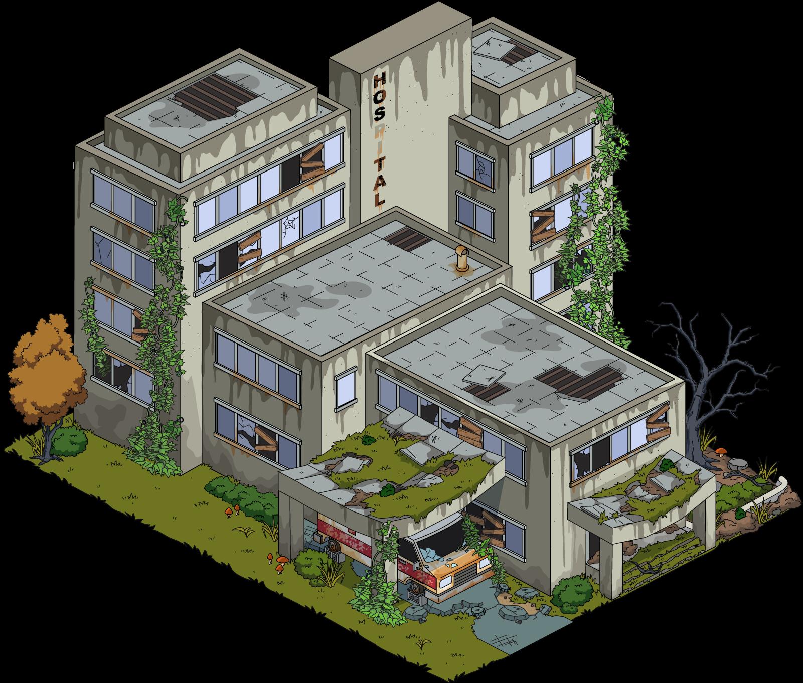 Abandoned house png. Image fg building hospital