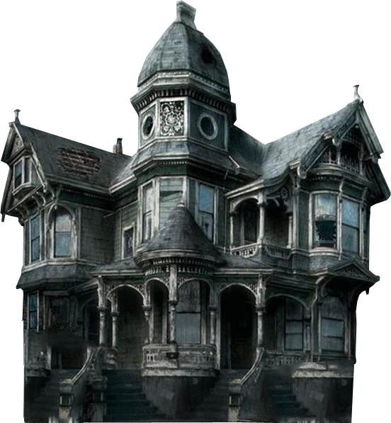 Haunted mansion transparent images. Abandoned house png