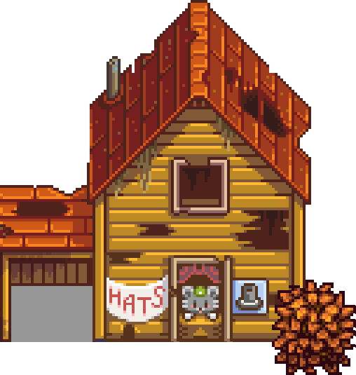 Stardew valley wiki hat. Abandoned house png