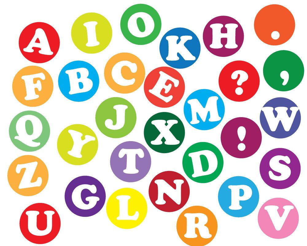 Instant download alphabet letters. Abc clipart
