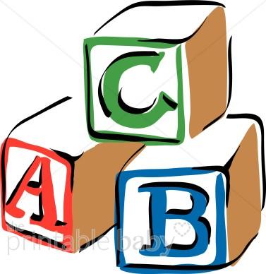 Abc colorful ba. Blocks clipart clip art