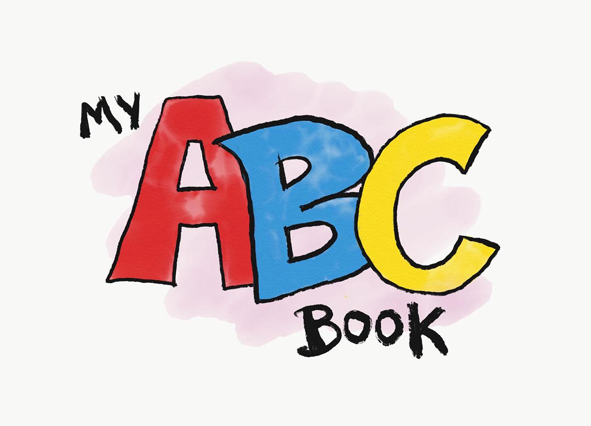 Abc clipart abc book. My on behance