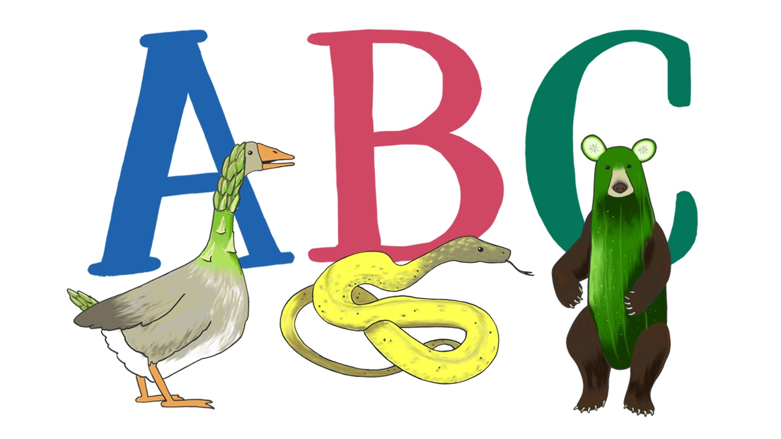 A is for asparagoose. Abc clipart abc book