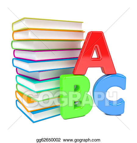Stock illustration letters with. Abc clipart abc book