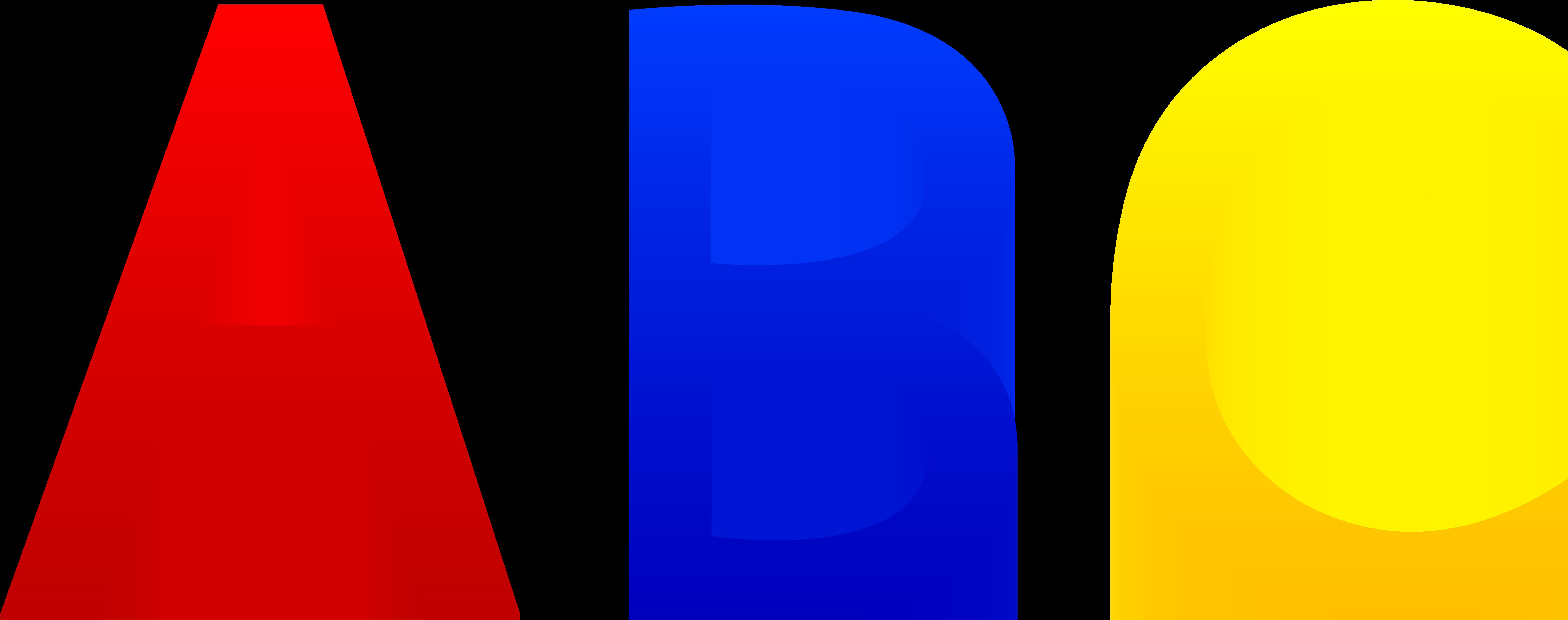 Clipart children alphabet. Abc letters free clip