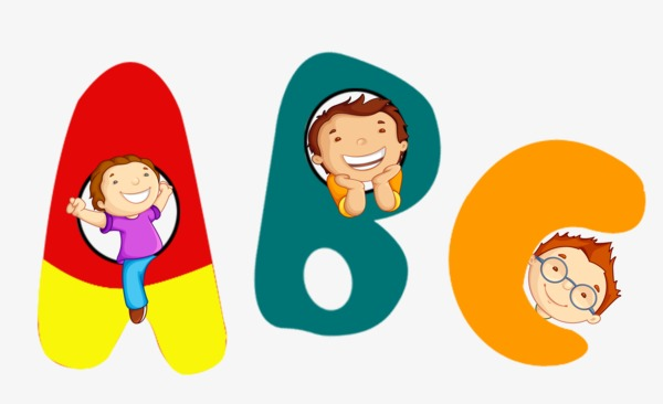 Cartoon letter child png. Abc clipart animated