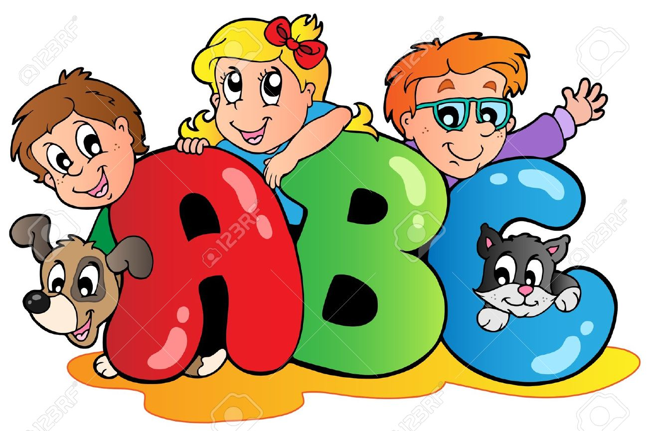 Free learning letters cliparts. Abc clipart animated
