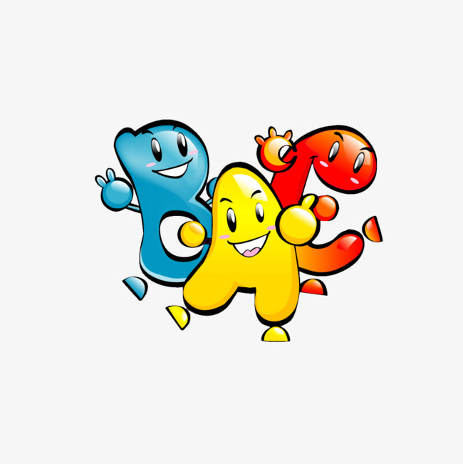 Abc clipart animated. Cartoon personification png image
