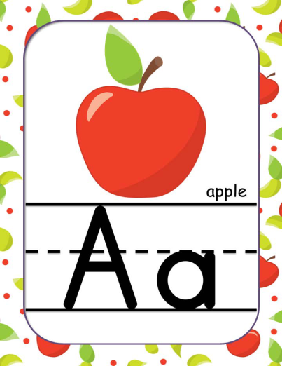 Abc clip art c. Apple clipart theme