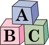 Block clipart abcd. Baby blocks abc