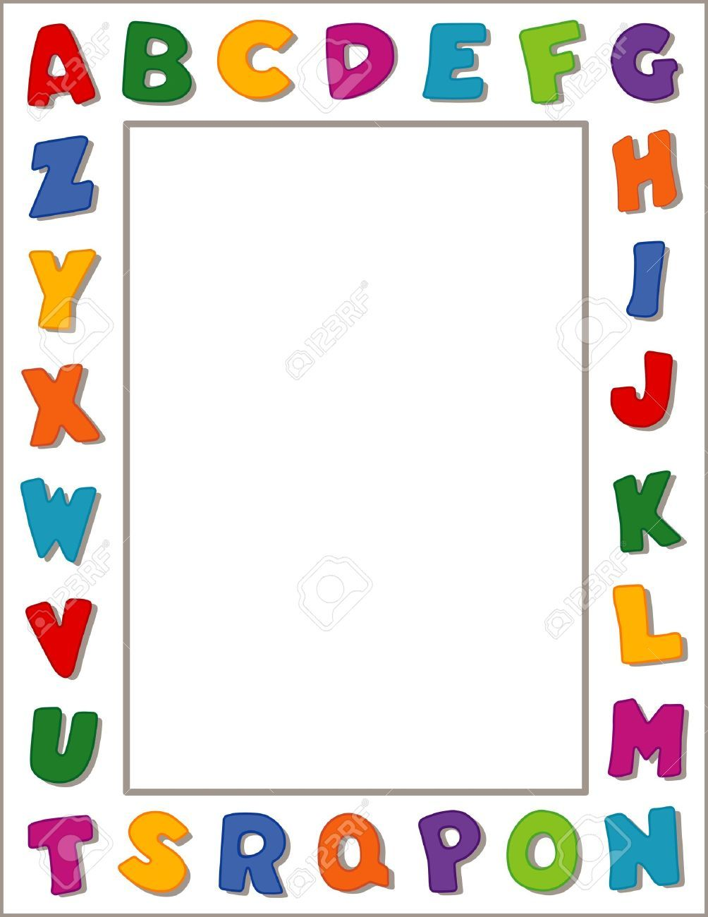Abc clipart banner. School page borders google