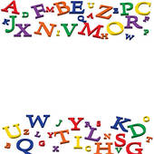 Abc clipart banner. Numbers border panda free
