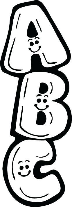 Abc clipart black and white. Letters memocardsco in