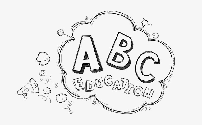 Abc clipart black and white. Letters cartoon letter png