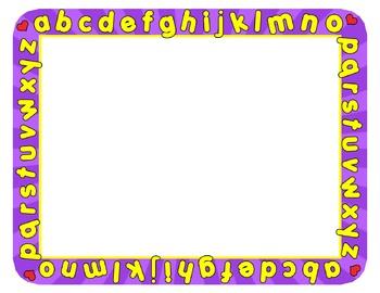 Abc clipart border. Borders frames alphabet frame