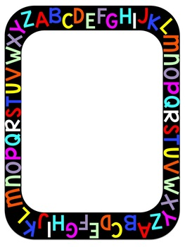 Abc clipart border. Clip art by learning