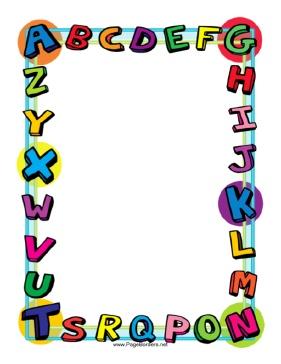 Free alphabet cliparts download. Abc clipart border