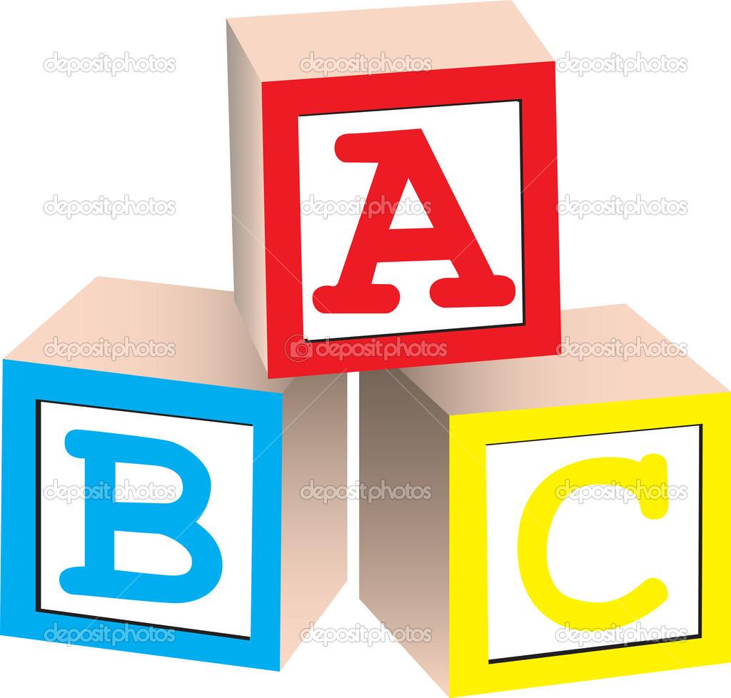 Abc building . Blocks clipart one