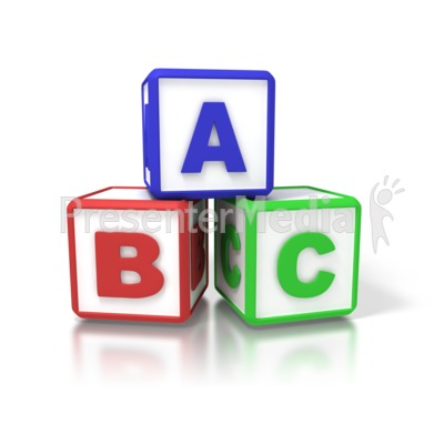 Signs and symbols great. Abc clipart building blocks