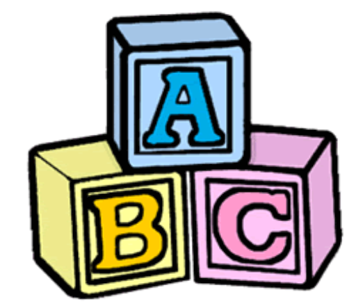 Abc clipart building blocks. Sam shirel spanish book