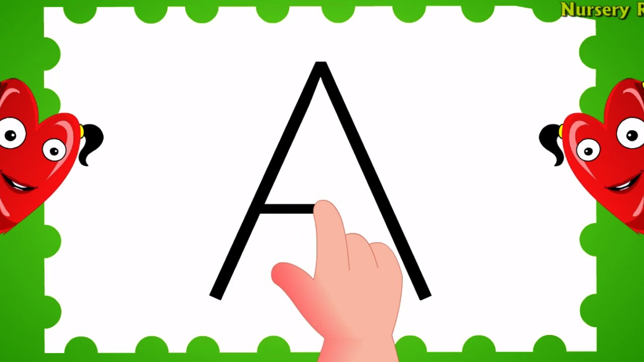 Abc clipart capital letter. How to write alphabet
