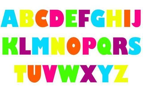 Abc clipart capital letter. Alphabet decals