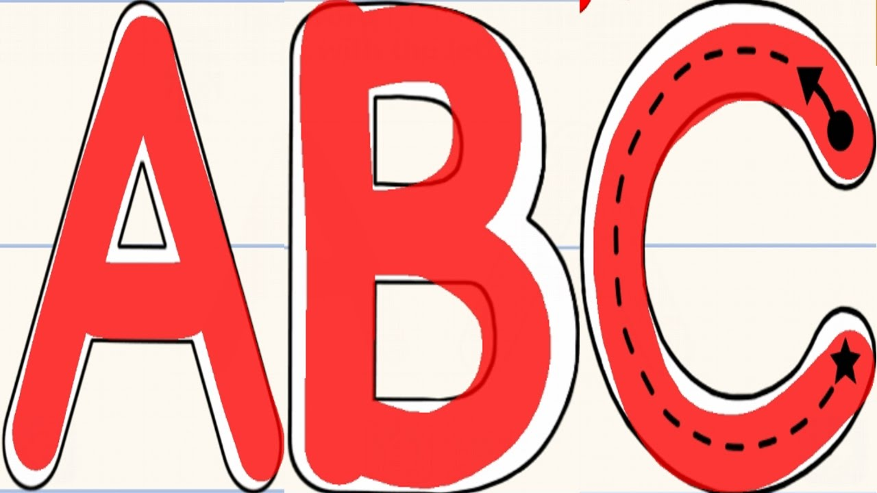 Abc clipart capital letter. Kids writing letters from