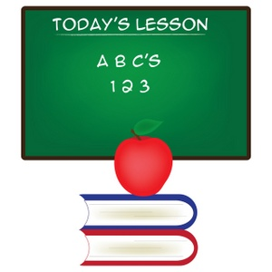Abc clipart chalkboard. Free school image today
