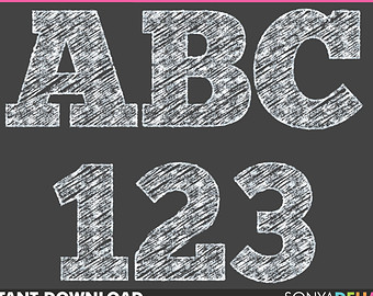 Chalk letters etsy alphabet. Abc clipart chalkboard