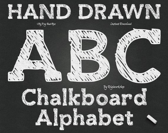 Abc clipart chalkboard. Alphabet clip art chalk