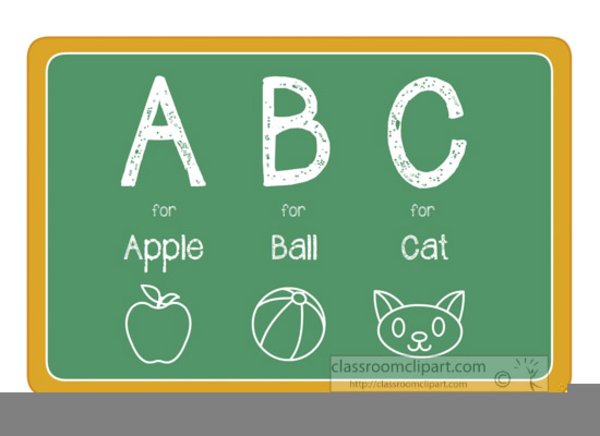 Free images at clker. Abc clipart chalkboard