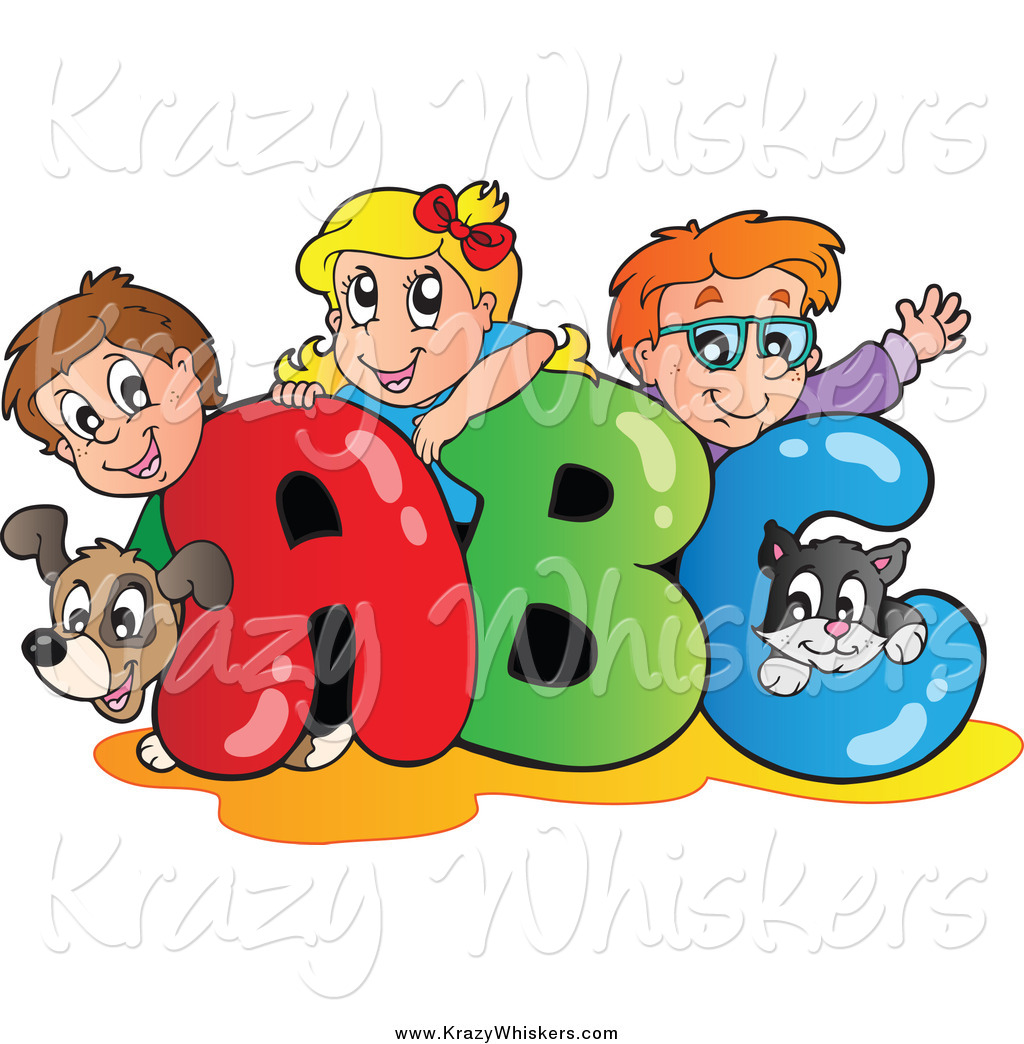 Critter of a dog. Abc clipart childrens