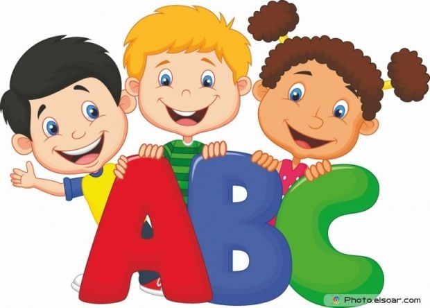 School kids with abc. Catering clipart kid