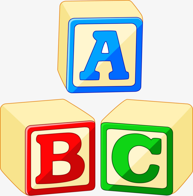 Abc cube letter png. Block clipart abcd