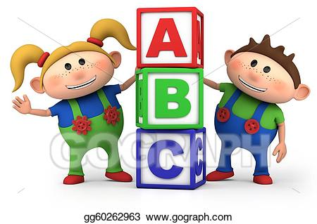Stock illustration boy and. Abc clipart cute