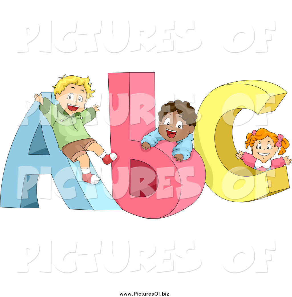 Abc clipart cute. Of diverse children playing
