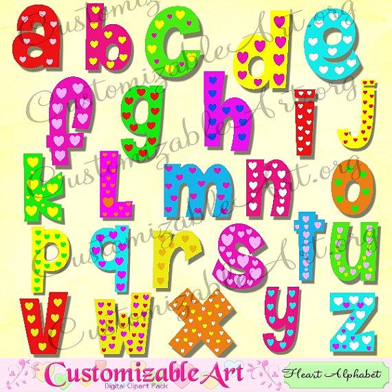 Alphabet digital clip art. Abc clipart cute