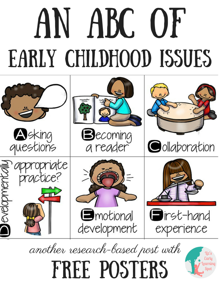 Abc clipart early childhood education. An of issues liz