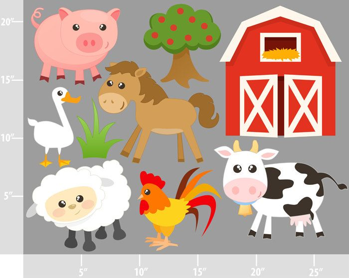 Barn clipart animal farm. Cute animals buy get