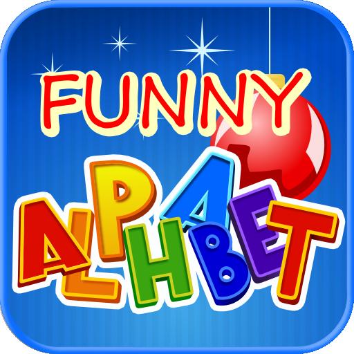 Funny alphabet interactive game. Abc clipart fun