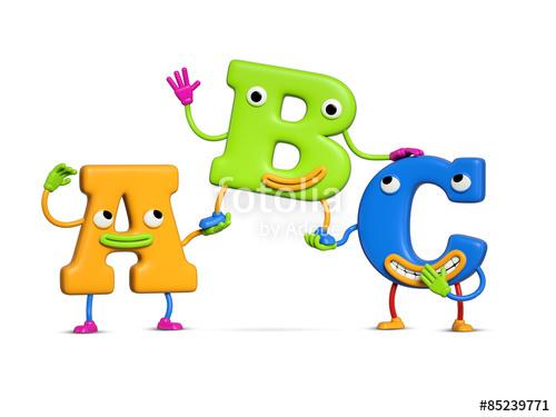 Abc clipart fun. Funny alphabet friendship letters