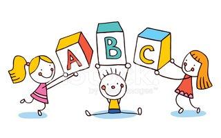 Letters kids education stock. Abc clipart fun