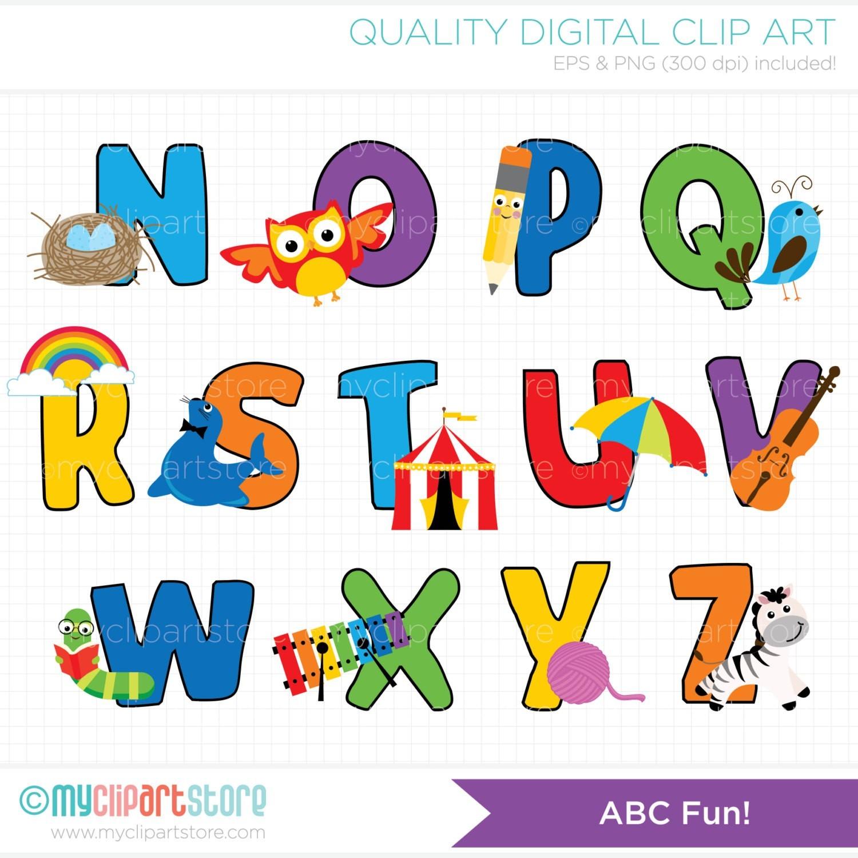 Alphabets fresh cute alphabet. Abc clipart fun